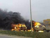 مقتل شخصين وإصابة 3 أخرين جراء انفجار سيارة قرب مصلحة الجوازات ببنغازى