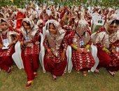 بالصور.. حفل زواج جماعى بالهند لعقد قران 131 مسلم ومسلمة