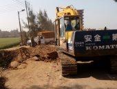 إغلاق طريق طنطا - السنطة بسبب أعمال ترميم كوبرى العشرة