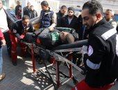بالصور.. إصابة 4 فلسطينيين فى سلسلة غارات للطيران الاسرائيلى على غزة