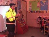 """بالصور.. """"الداخلية"""": إنشاء مدينة مرورية متنقلة للأطفال بالمدارس"""