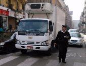 """""""المرور"""" تواصل حملاتها لضبط الشارع وتحرر 354 مخالفة بـ6 أكتوبر"""
