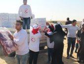 الهلال الأحمر المصرى: إرسال 5 آلاف كرتونه مواد غذائية مساعدات لأهالى سيناء