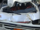"""مصرع شخصين وإصابة 11 فى حادث تصادم على  طريق """"المنصورة- شربين"""" بالدقهلية"""