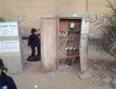 """""""كابينة كهرباء"""" بدون غطاء تهدد سلامة سكان شارع الظاهر فى حدائق حلوان"""