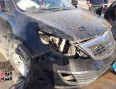 إصابة 4 أشخاص فى انقلاب سيارة على طريق أسيوط - سوهاج الزراعى
