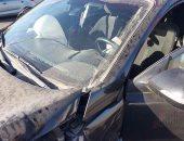 مصرع طفل وإصابة 3 آخرون فى حادث تصادم بين سيارتين بالطريق الدولى الساحلى