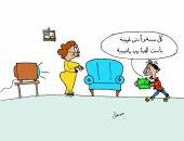 """""""سكر"""" هدية عيد الأم.. وسحر الحكام.. فى كاريكاتير جديد للموهوب مصطفى سعيد"""