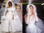 """بالصور ..تاريخ """"كلوديا شيفر"""" مع فساتين زفاف شانيل.. أول وأشهر عرايس الدار"""
