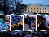 مئات الأمريكيين يتظاهرون فى واشنطن ضد قانون حظر السفر الجديد