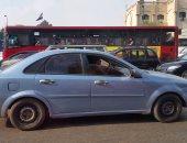 زحام مرورى بسبب حادث تصادم 3 سيارات بطريق السويس الصحراوى