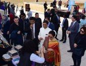 بالصور.. السفارة الهندية تفتتح معرضا للصناعات التقليدية بمنطقة الأهرامات