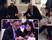 """أول ظهور لـ""""عامر وخورشيد"""" عقب زواجهما فى عشاء السفارة المصرية بواشنطن"""