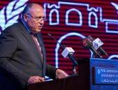 وزير الخارجية: السيسى عرض وجهة نظره ورؤيته لحل القضية الفلسطينية