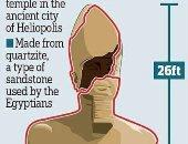 ديلى ميل تنشر رسما تخيليا لاكتمال تمثال رمسيس الثانى المكتشف فى المطرية