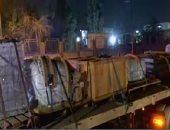 تمثال رمسيس يصل محيط جامعة القاهرة فى طريقه إلى المتحف المصرى