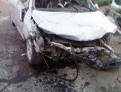 إصابة 8 أشخاص إثر حادث تصادم سيارتين بالدائرى اﻹقليمى بالجيزة