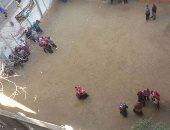 إصلاح وصيانة الصرف الصحى بمدرسة ابشاق الإبتدائية ببنى مزار بالمنيا