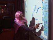 تدريب المعلمين على استخدام السبورات التفاعلية بالقليوبية