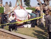 تمثال المطرية الأثرى يرقد فى سلام بالمتحف المصرى