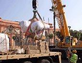بالصور.. المشرف على نقل رمسيس الثانى: التمثال الملكى وضع بحديقة المتحف المصرى بسلام
