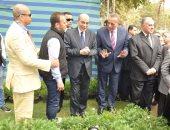 وزيرا الزراعة والرى يفتتحان معرض زهور الربيع بحديقة الأورمان بالجيزة
