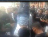 """ننشر أول فيديو لحادث تعليق أهالى فيصل لحرامى بشارع """"ناصر الثورة"""""""