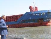 بالصور..وصول سفينة محملة بمحول ومبردين لميناء البرلس بكفر الشيخ