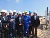 وزير البترول فى زيارة ميدانية لتفقد سير الأعمال بحقل ظهر