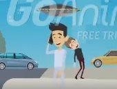 """بالفيديو.. شاب مصرى يخترع """"شمسية مكيفة"""" تحمى المواطنين من الشمس"""