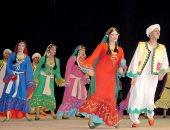 فرقة رضا تحتفل بالأقصر عاصمة للثقافة العربية فى الكرنك
