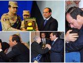 الرئيس يكرم أمهات وأهالى شهداء الجيش والشرطة