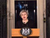 """بالصور..تريزا ماى بـ"""" الأسود"""" حدادا على ضحايا هجوم لندن"""