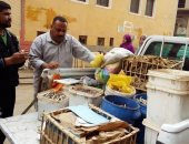 ضبط كمية من المواد الغذائية الفاسدة بسوق أهناسيا غرب بنى سويف