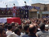 بالصور.. جنازة عسكرية مهيبة للشهيد شادى العاصى بمسقط رأسه فى المحلة