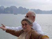 """الرئيس الإسرائيلى يلتقط صورا مع زوجته على طريقة فيلم """"تيتانيك"""""""