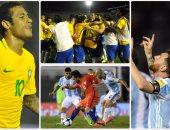 فوز ثمين للبرازيل والأرجنتين على أوروجواى وتشيلى بتصفيات المونديال