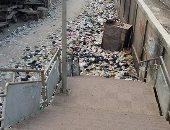 """بالصور.. تلال القمامة تهدد حياة المواطنين فى """"مطار إمبابة"""""""