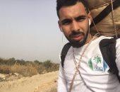 """بالصور.. رحال يجوب شمال وجنوب سيناء رافعا شعار """"معا ضد السرطان"""""""