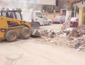 رفع 300 طن مخلفات وقمامه من مناطق وشوارع بمدينة بنى سويف