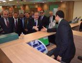 محافظ بنى سويف يفتتح المقر الجديد لفرع البنك الأهلى بالواسطى