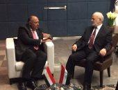 وزير خارجية العراق يبحث مع سامح شكرى التحديات التى تواجه الوحدة العربية