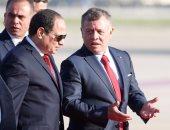 الملك عبد الله يستقبل السيسى وزعماء العرب  المشاركين فى قمة عمان
