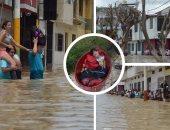 استمرار فيضانات بيرو وتضرر 164 ألف منزل