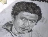 قارئ يشارك بلوحة للفنان أحمد زكى فى ذكرى وفاته