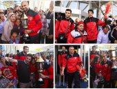 وصول طائرة الأهلى أبطال أفريقيا لمطار القاهرة