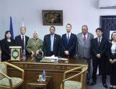 رئيس جامعة أسوان يستقبل وفد من سفارة اليابان