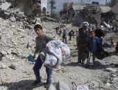الرئيس السويسرى يتفقد مخيما للنازحين السوريين فى لبنان