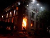 بالصور.. محتجون يضرمون النار بمبنى الكونجرس فى باراجواى