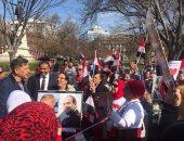 بالفيديو والصور.. الجالية المصرية تحتشد أمام البيت الأبيض للترحيب بالرئيس